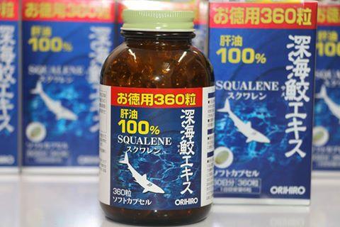 Dầu gan cá mập Squalene Orihiro 360 viên Nhật Bản